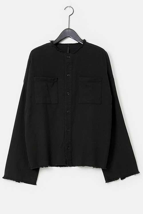 Washed Round-NecK Grungy Shirt