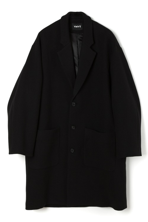 Three Button Wool Overcoat