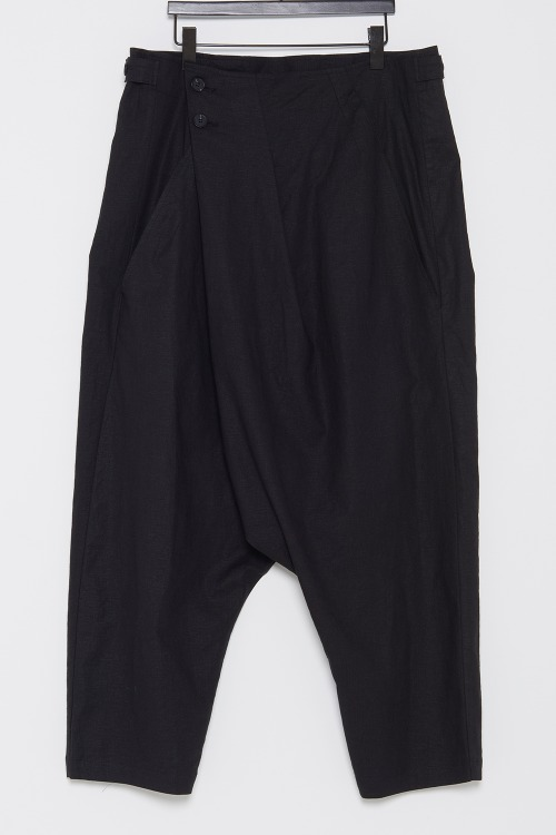 Side Tab Wrap Baggy Pants