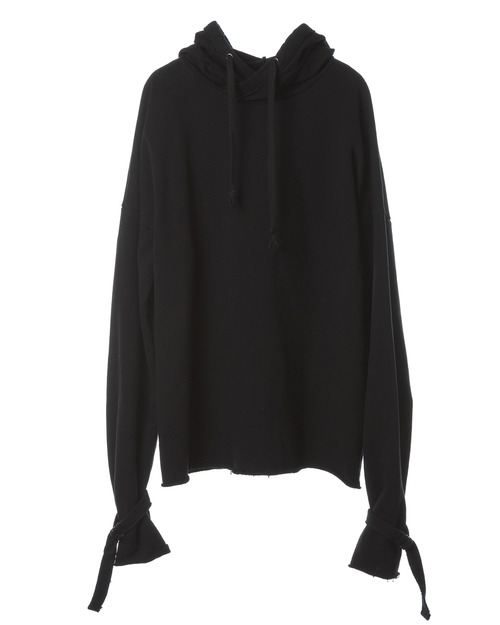 Raw-Edge Big Hooded T-shirt